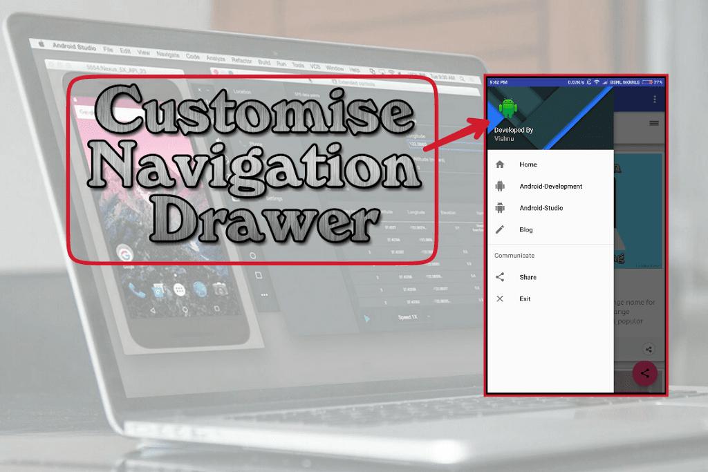 Customise Navigation Drawer