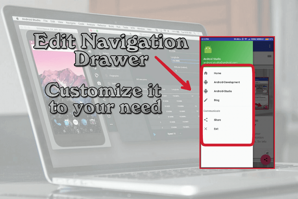 Edit and Customize the Navigation Drawer