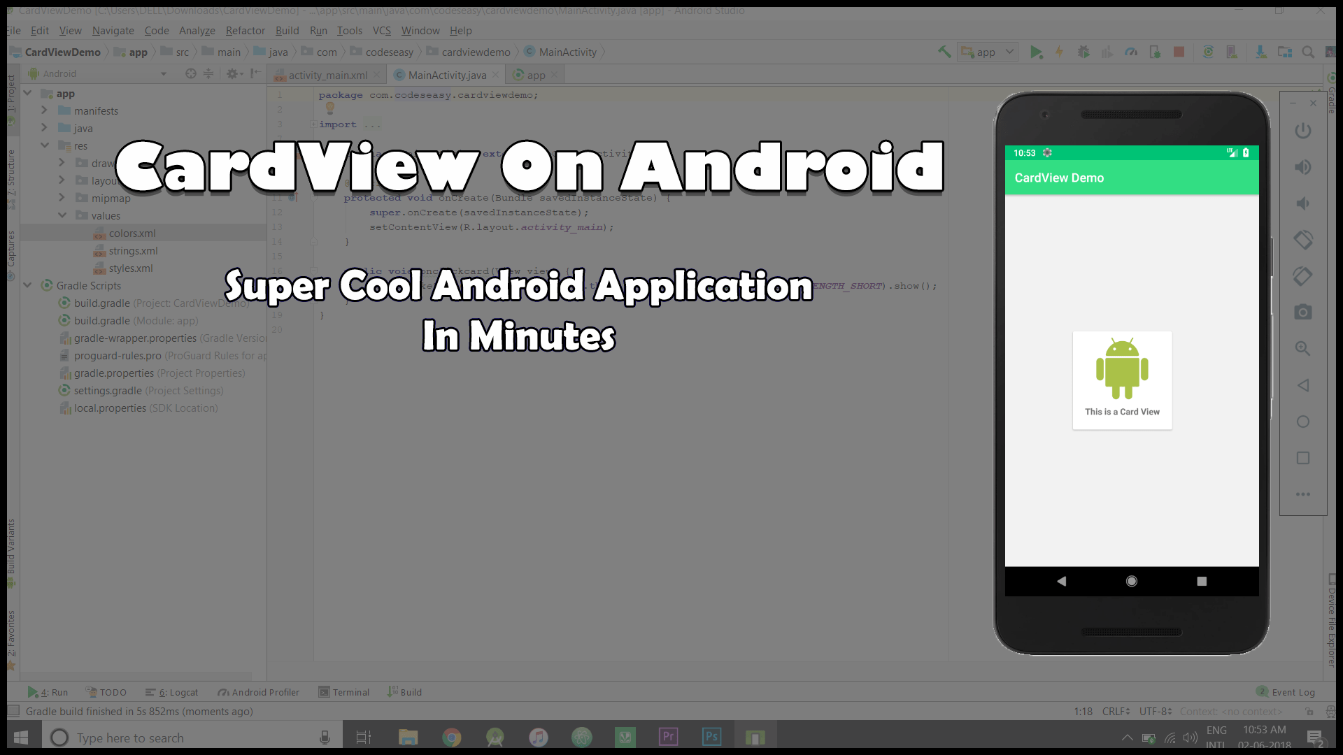 CardView-On-Android-Application