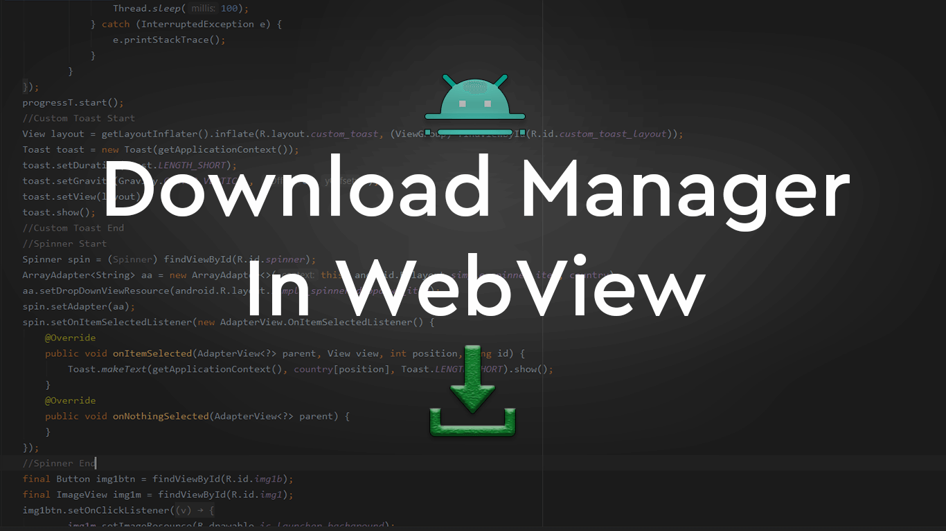 Download Manager in WebView Android